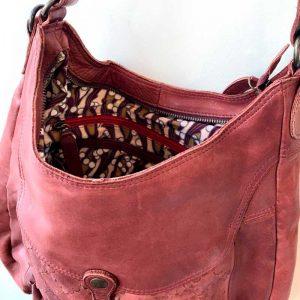 desert Rose leather bag inside