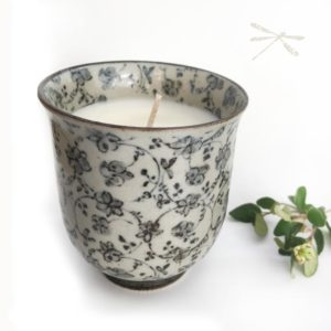 Japanese Tea Cup Candle Antique