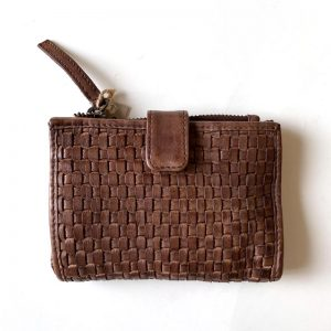 leather weave purse