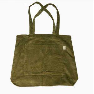 Jumbo Cord Tote bag olive