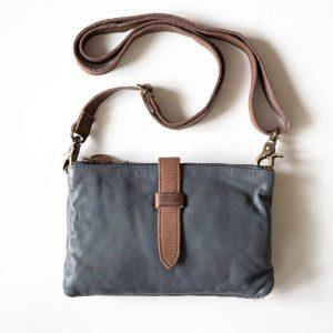 Blue Leatehr bag