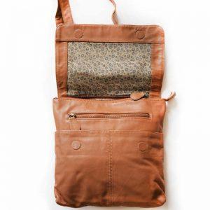 inside leather bag