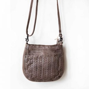 Noose brown leather bag