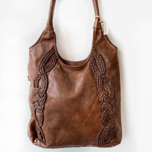 large leather tote saylor