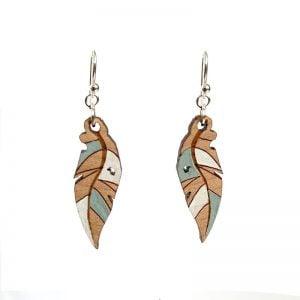 eucalyptus leaf earrings