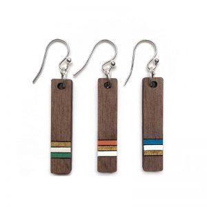 bar drop earrings pinstripe