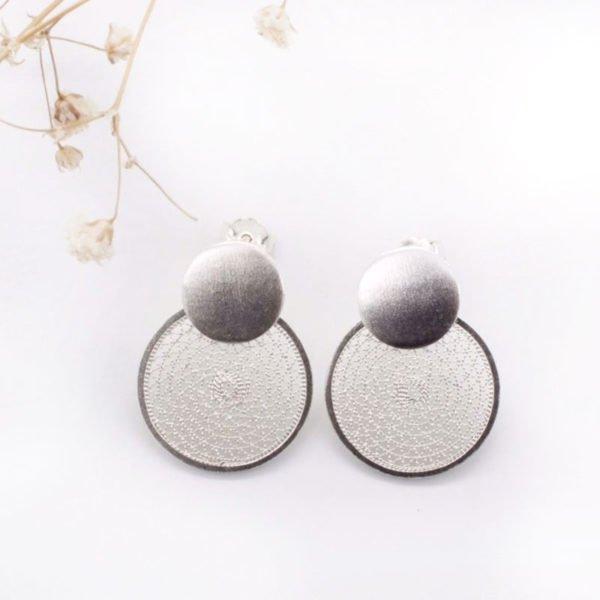 Disc Stud Drop earrings