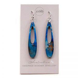 Earrings Blue D