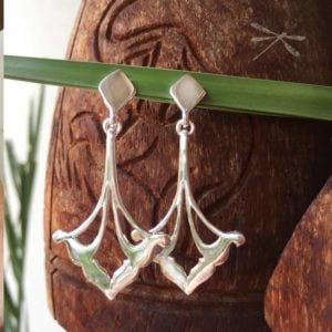 silver drop earring