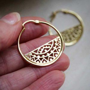 Gold Harmony Hoops