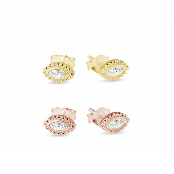Rose Gold and Gold Stud