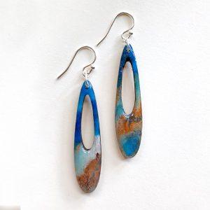 blue earring A