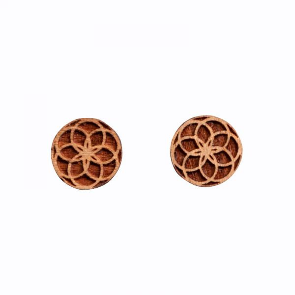 seed of life wooden studs