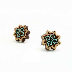boho Star mandala studs turquoise