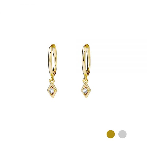 gold hoop earring with detail