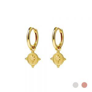 gold huggie earring
