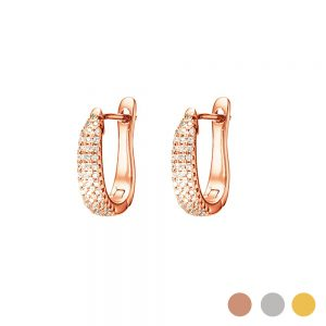 Rose Gold dazzle earring