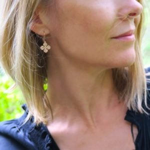 fluer earring rose gold