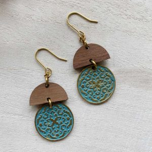 Frescia Patina wood earrings
