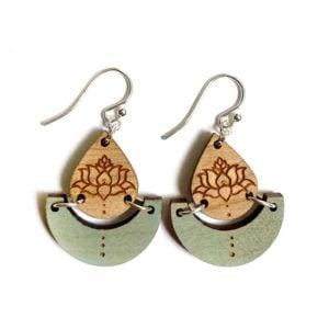 green lotus pond earrings