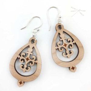 wood hampshire earring