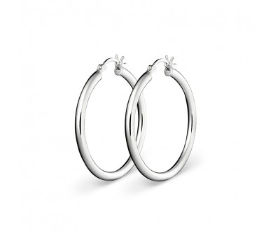 silver hoop 22mm