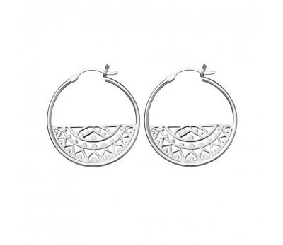 silver harmony hoops