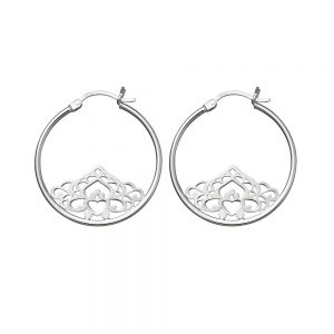 Silver divinity earrings