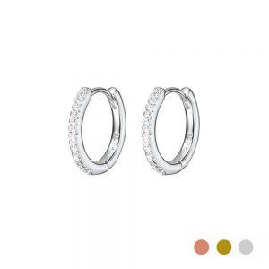 Silver Huggie earring