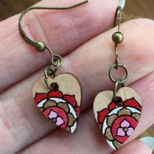 Heart Chakra red earrings