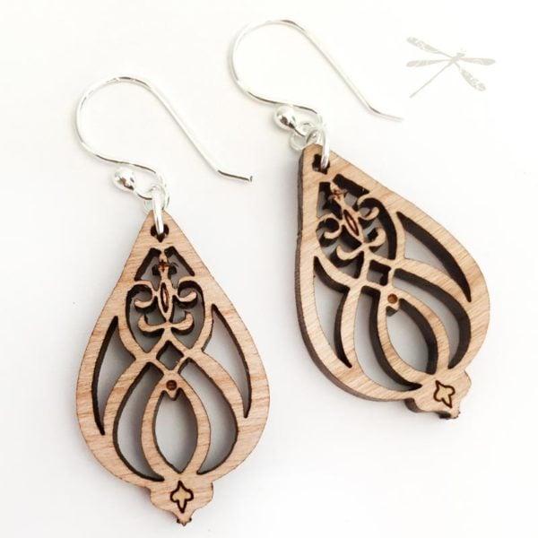 Heart felt earrings