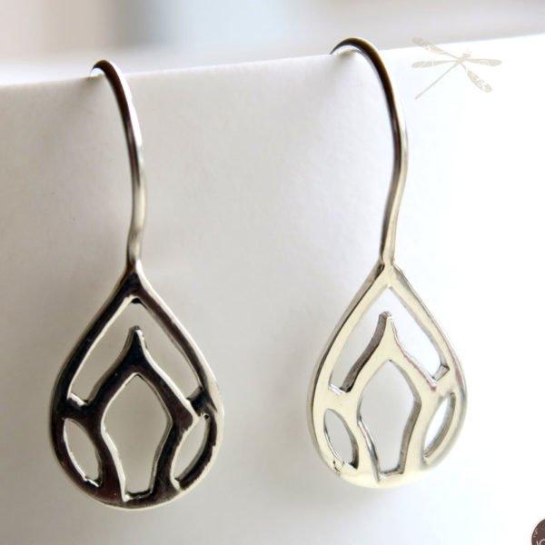 lotus bud earring