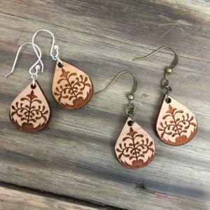 lotus petal earrings