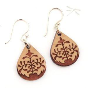 lotus petal earring