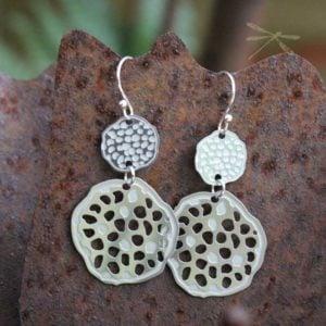 lotus pod double earring