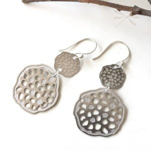 lotus pod double earring