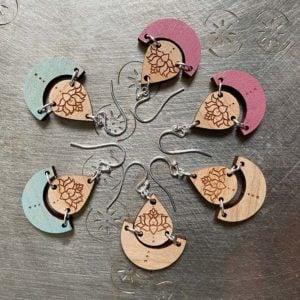 lotus pond earrings