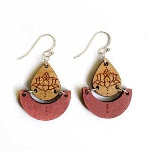 Pink Lotus Pond earrings