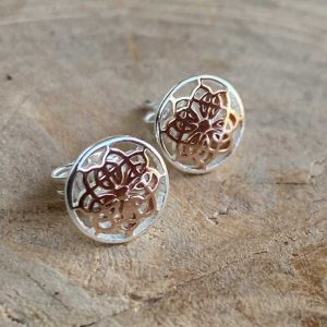 rose gold mandala stud
