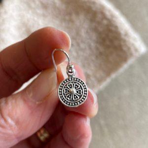 mandala flower earring