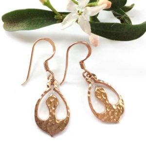 Nurture rose gold earrings