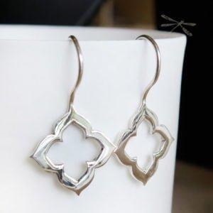 Open lotus earring