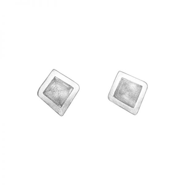Diamond Organic form stud