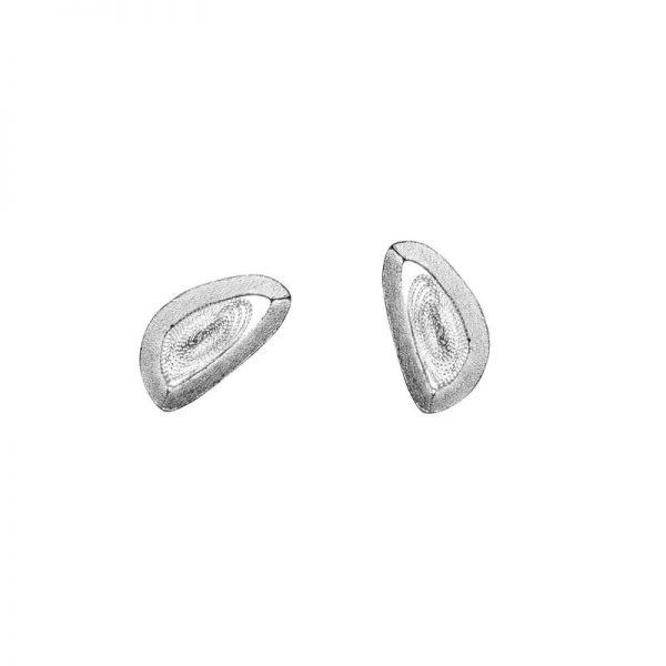Organic form earring