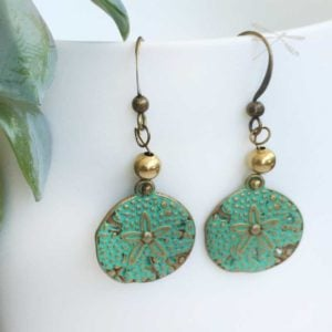 Round Patina earrings