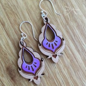 pyara earring purple
