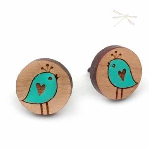 round bird studs