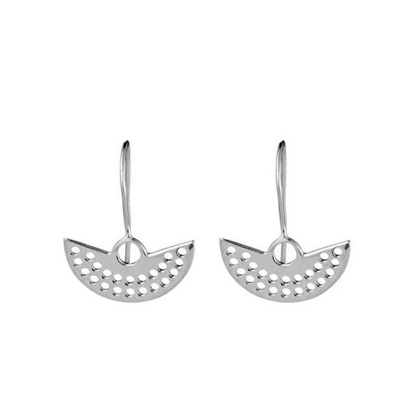 Silver Fan earring