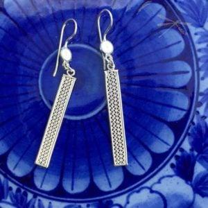 bar drop filigree earrings