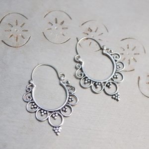henna hoop earrings